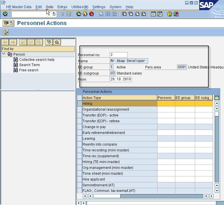 PA40 - Final screen showing succesful hire