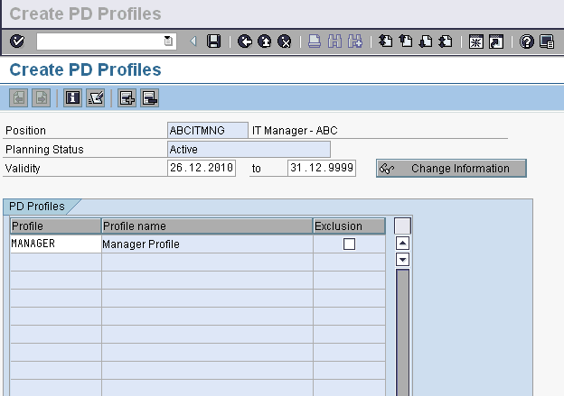 PP01-Create PD Profile for Position