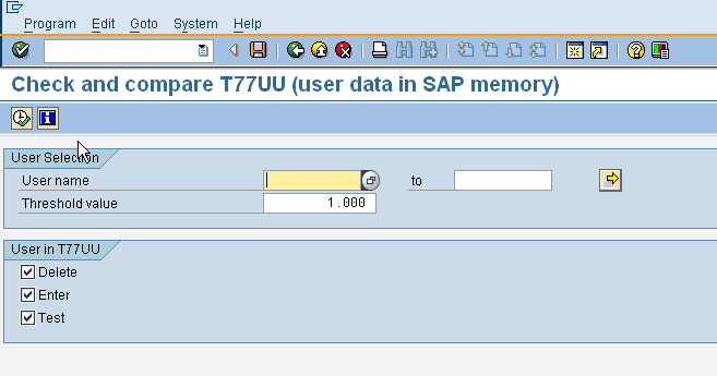 RHBAUS02 - Update user data in SAP memory