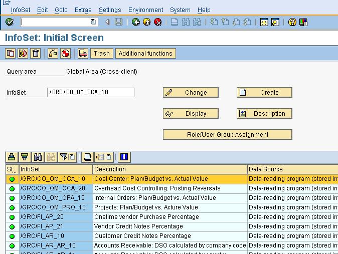SQ02 - Infoset Maintenance