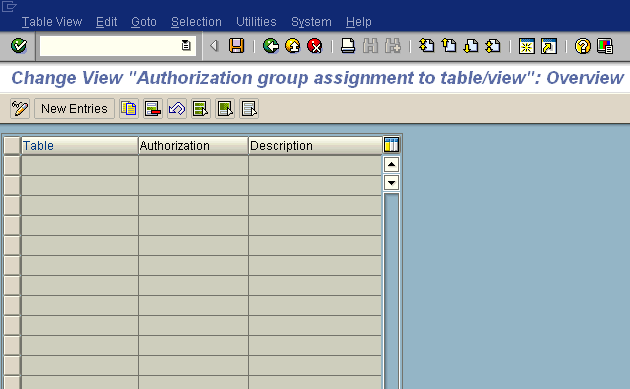 SE54 - Assign Authorization Groups