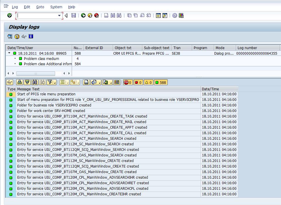 Report CRMD_UI_ROLE_PREPARE - Log