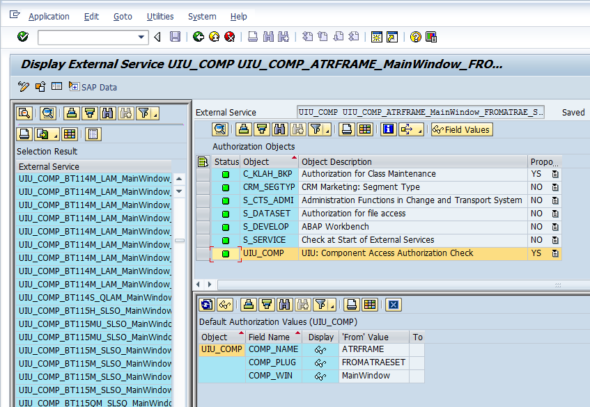 authorization objects in sap