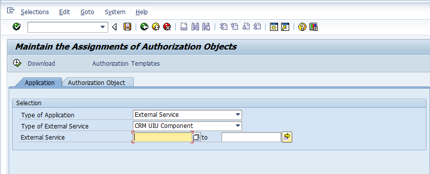 SU24 entries for SAP CRM UI components