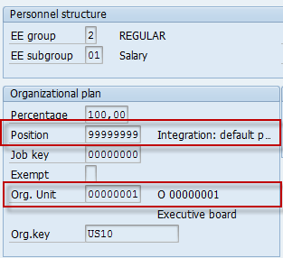 Org Assignment - Default Position with Org Unit