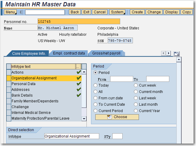 Securing PA Data – Sap Security Pages