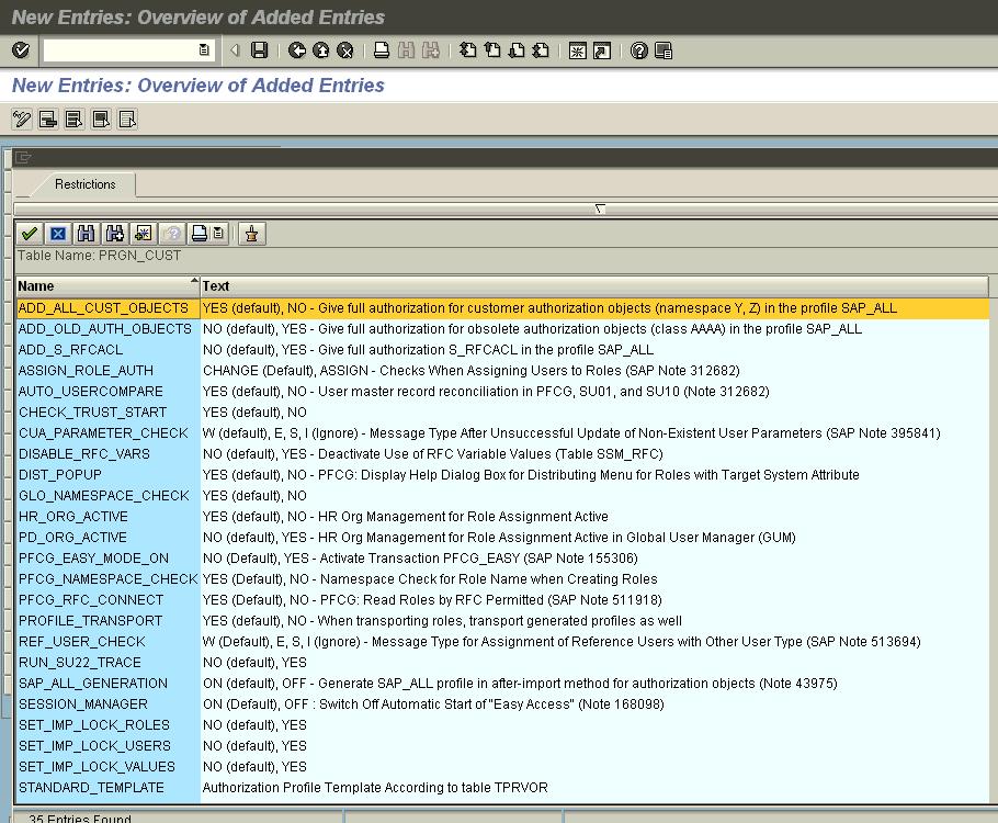 SAP Tables – Sap Security Pages